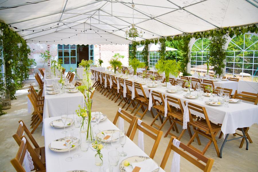 Chaise en bois location événements mariage champêtre